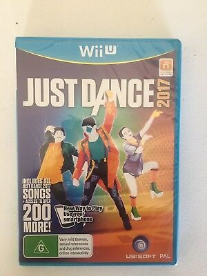 Just Dance 2017 wii U Game - Nintendo PAL Australian version NEW & SEALED