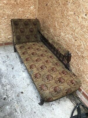 Antique Victorian style Chaise Longue Upholstery Project