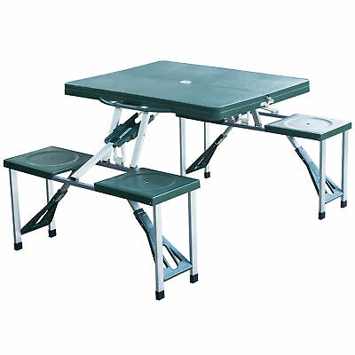 Outsunny Folding Portable Camping Picnic Table Stools Set Outdoor Garden Chairs