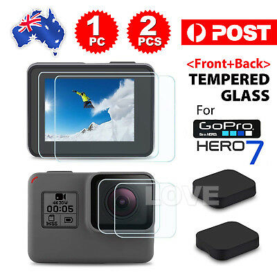 2pcs Lens Protector+Screen Protector Tempered Glass for GoPro Hero 7 Camera