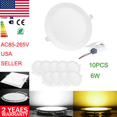"3"" 4"" 5"" 6"" LED Ceiling Light Panel Flat Dimmable Downlight Recessed Fixtures US"
