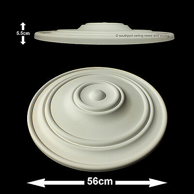 56cm Diameter, Lightweight Ceiling Rose (made of strong resin not polystyrene)