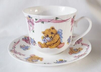Roy Kirkham Teddies Bouquet Breakfast Cup and Saucer