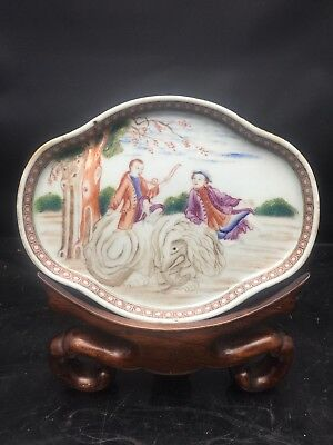 Antique Chinese Canton Porcelain Export Dish 18th Century