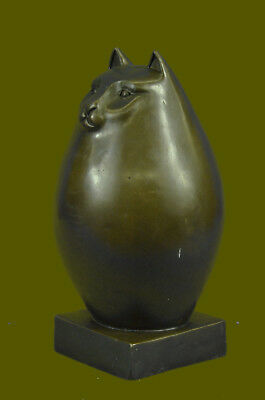 Fernando Botero Fat Cat Museum Quality Bronze Sculpture Home Office Decor Figure