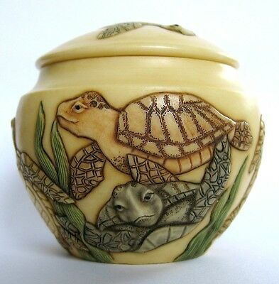 Ocean's Oldest - Jardinia - NIB - Turtles Trinket Pot - MPS Harmony Kingdom