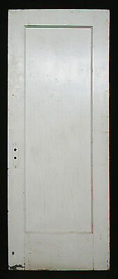 "30""x75"" Antique Vintage Interior Door Solid Wood Wooden Single Recessed Panel"