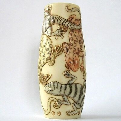 On a Limb -  Jardinia - NIB - Lizards Small Vase - MPS Harmony Kingdom