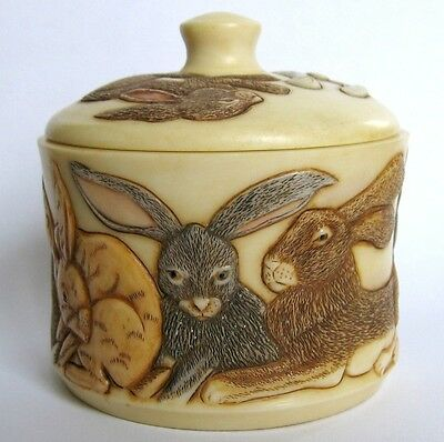 Ides of March - Jardinia - NIB - Hares Trinket Pot - MPS Harmony Kingdom