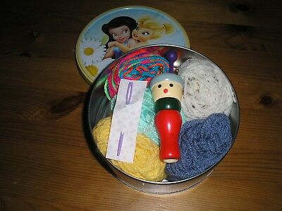 childrens french knitting  set   with wool and dollie