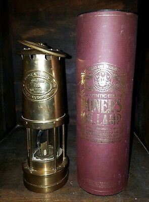 Miners Lamp  E. Thomas & Williams Welsh All Brass Lamp with box and booklet