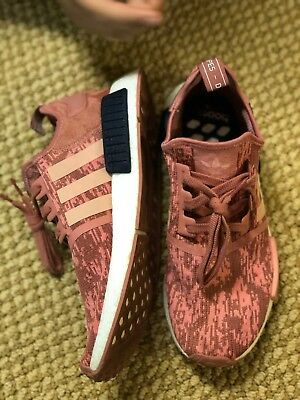70442609dd153 NWT And Box Adidas NMD R1 W Running Sneaker - Raw Pink Trace Legend Ink  size 11