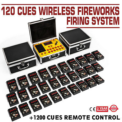 120 Cues Fireworks Firing System Electric Control Igniters Wireless Wedding