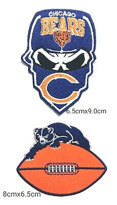 Chicago Bears 2Pcs per pack Logo Patches on~Iron on ~ Sewing on Fabrics