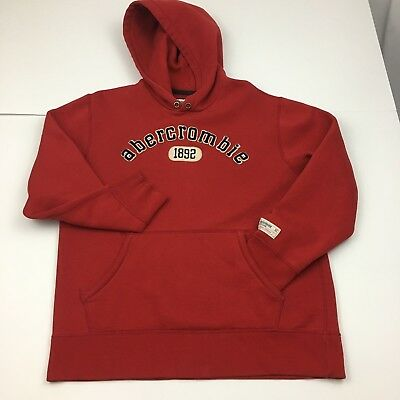 Abercrombie And Fitch Youth XL Classic Hoodie Red Hooded Sweatshirt