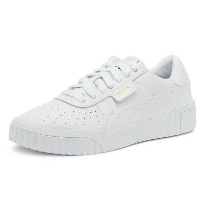 4a3b7f3b06f8 PUMA CALI WOMENS White Trainers Lace Up Leathers Sport Casual Shoes ...