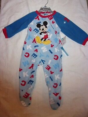 e90ae29dbc Disney Mickey Mouse Footed Soft Pajamas Blanket Sleeper Size 12-18 Mo New W