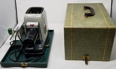 Vintage Skyline Deluxe SVE Slide Projector With Case & Tray - Ships FREE