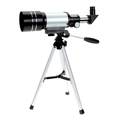 Refractive Astronomical Telescope (300/70mm) Monocular Space Scopes+Tripo Gift