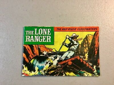 "LONE RANGER HUBLEY ADV SERIES 1973 MINI COMIC BK-""The Red River Floodwaters"""