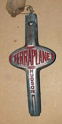 Original HUDSON TERRAPLANE Hood Emblem Badge 3186J Antique Vintage Genuine Car a