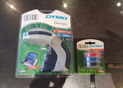 Brand New Label Maker Omega Embossing Label Tape With 3 Tapes Included