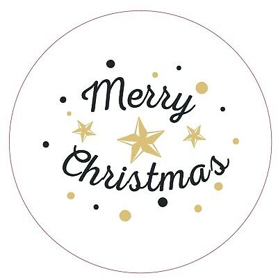 100x Merry christmas Stickers Labels Decorating Present Seals 30mm Xmas Envelope