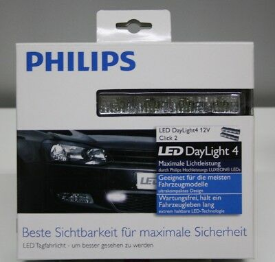 Tagfahrlicht Philips Aktion LED Day Light 4 mit Klicksystem 12820WLEDX1