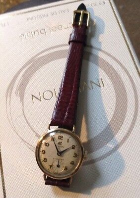 Vintage 9ct Gold CYMA  Ladies Watch Working Condition