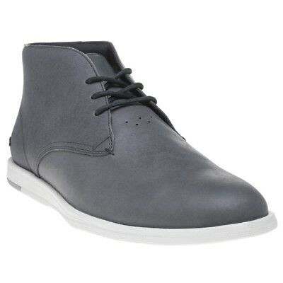 0c7576fcb284 NEW MENS LACOSTE Blue Laccord Chukka Leather Trainers Boots Lace Up ...