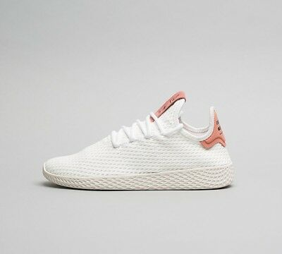 dd06b7fca Womens Adidas Pharrell Williams Tennis HU Wh Raw Pink Trainers (SF32) RRP £