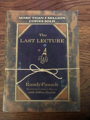 The Last Lecture by Randy Pausch (2014, Hardcover, Large Type)