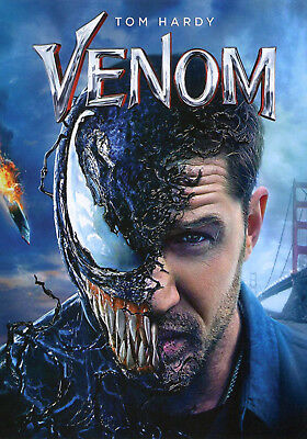 Venom - Tom Hardy, Michelle Williams (DVD 2018) New And Sealed! (Ships 12/18)