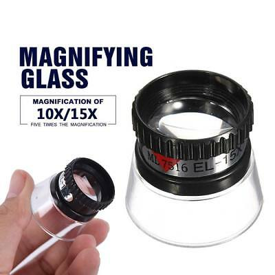 10/15X Monocular Magnifier Magnifying Glass Loupe Repair Tools For Jewelry Watch