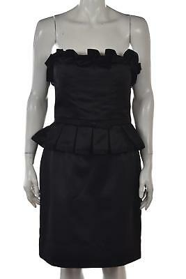 fffe9872efb Phoebe Couture Womens Dress Size 10 Black Short Strapless Sheath Cocktail  Party