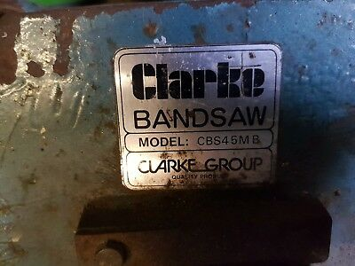 Horizontal Metal band saw 6 inch Clarke