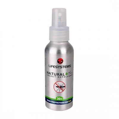 Lifesystems Natural Plus Insect Mosquito Repellent Spray 100ml - Deet Free