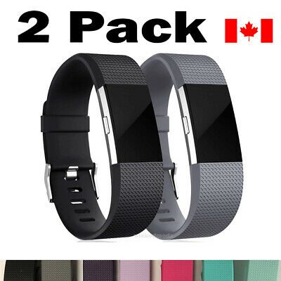 2 Pack For Fitbit Charge 2 Band Replacement Wristband Watch Strap Bracelet S-L