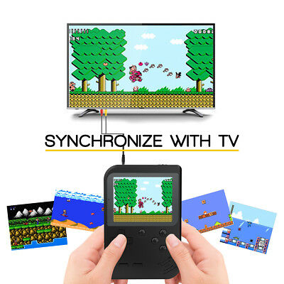 Multi-Color 168 Classic Games Built-In Handheld Game Console TV Synchronization