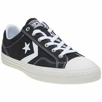 New MENS CONVERSE BLACK STAR PLAYER EV OX CANVAS Sneakers PLIMSOLLS f252d9223