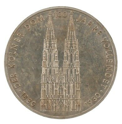 1980 Germany 5 Duetsche Mark Cologne Cathedral Coin