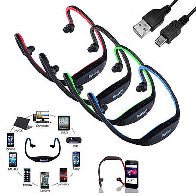 Wireless Bluetooth Headset Stereo Headphone Earphone Sport Handfree Universal US