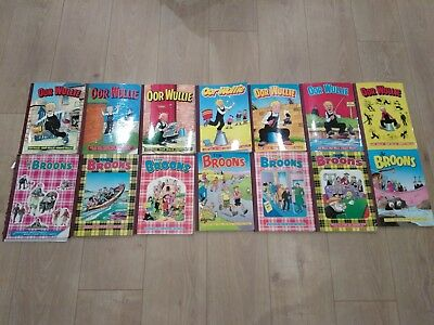 Oor Wullie and Broons collection of annuals