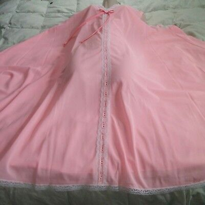 Womens plus PINK Negligee Nightgown Lane Bryant NEW SZ 52 vtg