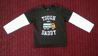 Carter's Boys Size 4T  Multicolor Cotton Long Sleeve Tough Like Daddy T Shirt