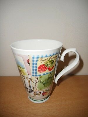 "Roy Kirkham ""My Garden"" Fine Bone China Mug 1997, Excellent Condition."