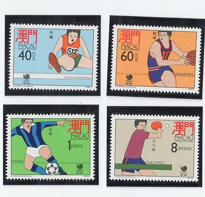 Macau 1988 Olympic Games Unmounted Mint