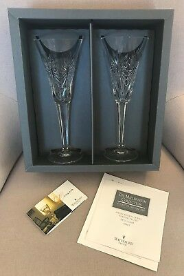 (2) Waterford Flutes - The Millennium Collection - Third Toast - Health