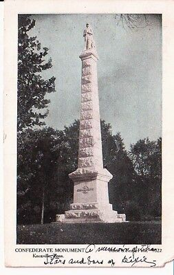 1908  Postcards Confederate Monument Knoxville TN