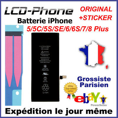 BATTERIE INTERNE iPhone 4/4S/5C/5S/SE/6/6S/7/8 Plus NEUVE 0 CYCLE ORIGINAL Apple